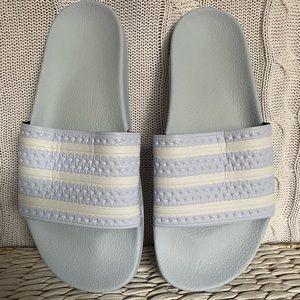 Adidas Men's Slides Size US 9 Light Blue BNew